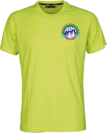 maglia gialla con logo aim